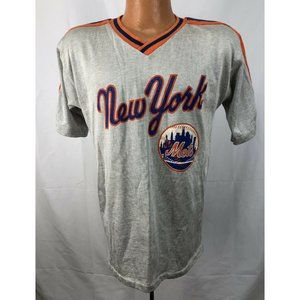 Vintage 1980's New York Mets Silver Jersey